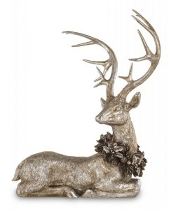 Srebrna dekoracyjna figurka jeleń