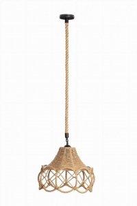 Lampa wisząca jutowa w stylu vintage boho na sznurze
