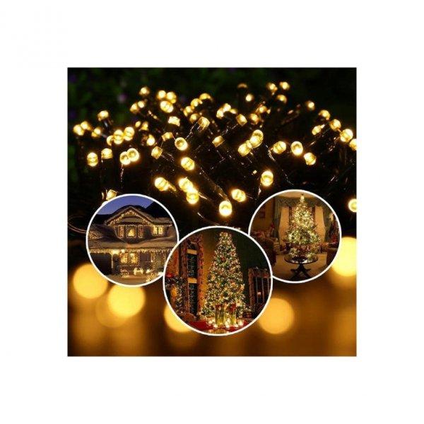 LAMPKI 100 LED RING CIEPŁY BIAŁY OŚWIETLENIE CHOINKOWE