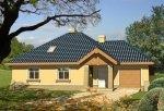 Projekt domu TURKUS z garażem 1-stanowiskowym