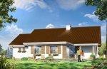 Projekt domu Niezapominajka z garażem pow.netto 103.57 m2