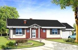 Projekt domu Słoneczny z garażem pow.netto 135,67 m2