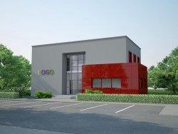 Projekt biurowca LOGO o pow. 220 m2