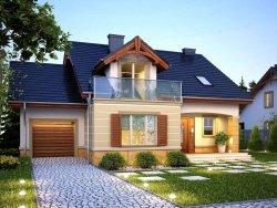 Projekt domu WENECJA z garażem 1-stanowiskowym