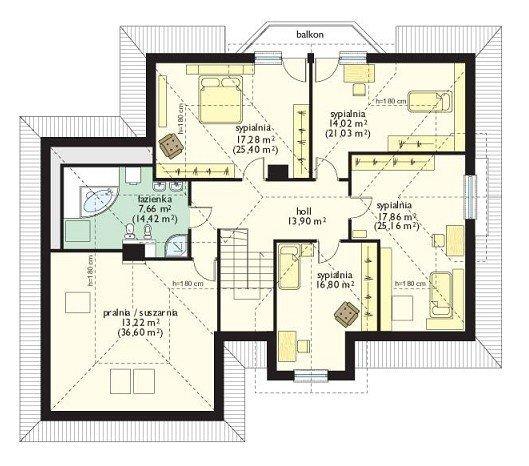 Projekt domu Maja III pow.netto 215,4 m2