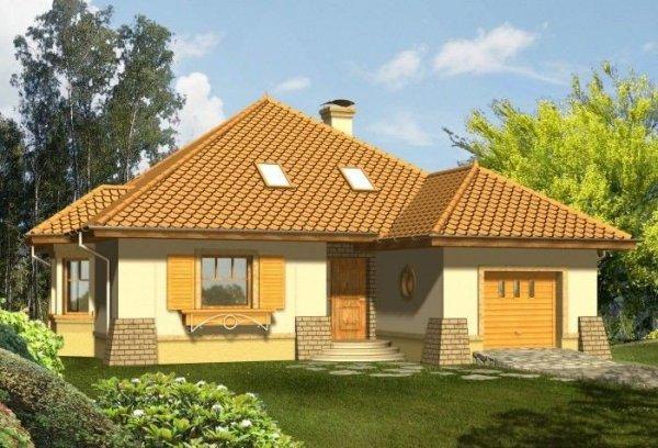 Projekt domu IMPRESJA z garażem 1-stanowiskowym