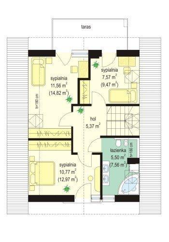 Projekt domu Gucio pow.netto 96,58 m2