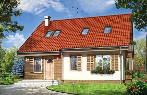 Projekt domu Bryza III pow.netto 123,08 m2