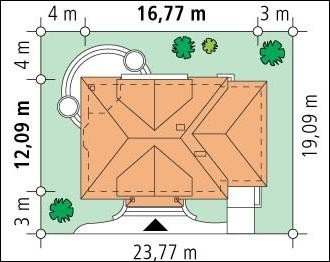 Projekt domu Faworyt pow.netto 213,18 m2