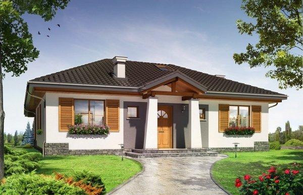 Projekt domu Cztery kąty IV pow.netto 98,54 m2