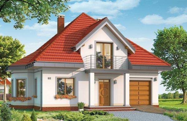 Projekt domu Agatka pow.netto 157,28 m2