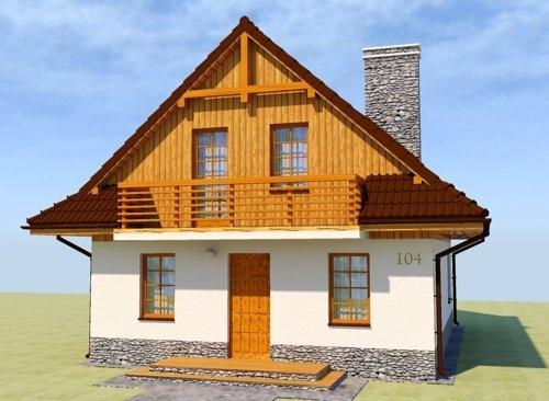 Projekt domu na wąską działkę Kameralne Wzniesienie