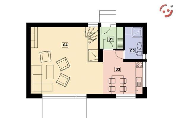 Projekt domu nowoczesnego OO5520 pow. 105,65 m2