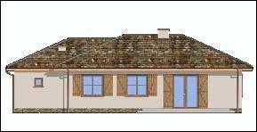 Projekt domu Jak marzenie z garażem pow.netto 113 m2