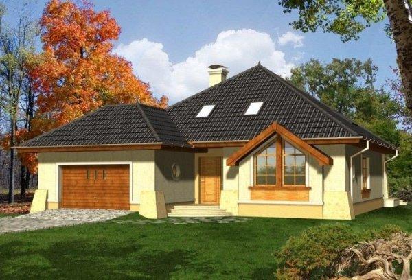 Projekt domu TOSCANIA z garażem 2-stanowiskowym