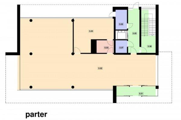 Projekt biurowca PS-BP-330-20 o pow. 614,28 m2