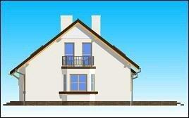 Projekt domu Zgrabny z przedsionkiem pow.netto 158,62 m2