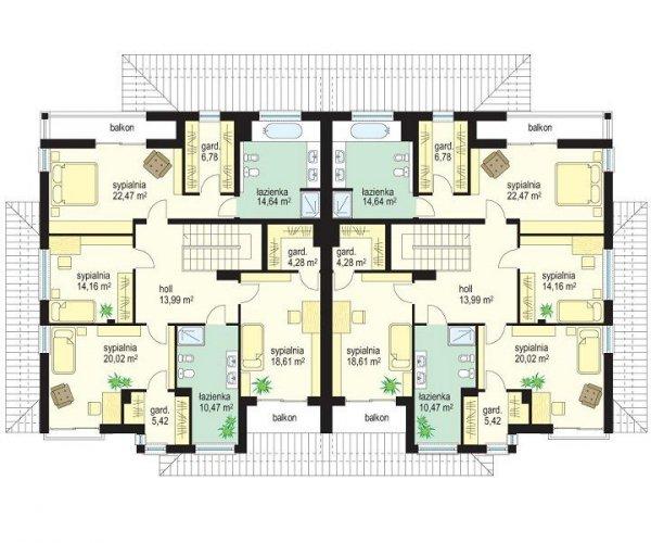 Projekt domu Neptun pow.netto 259,75 m2