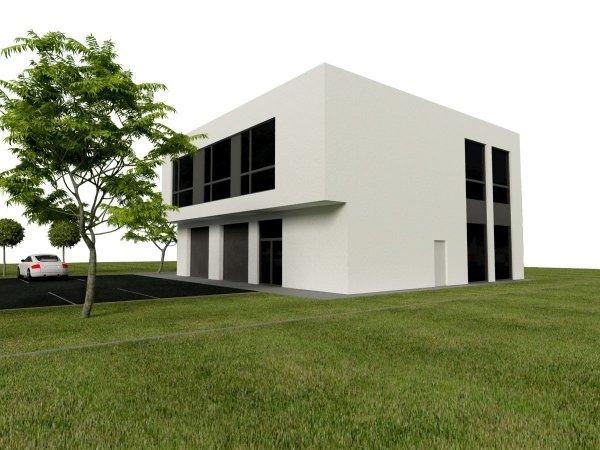 """Projekt budynku magazynowo – usługowo – biurowego - warsztatu samochodowego """"BUSINESS & TRADE"""" o pow. 387,50 m2"""