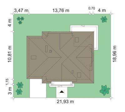 Projekt domu Julka II pow.netto 146,99 m2