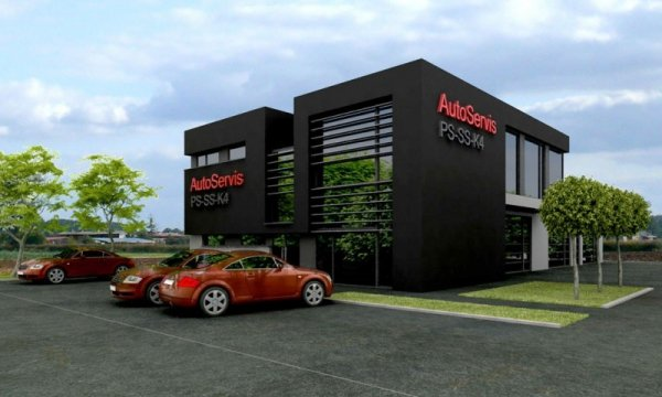 Projekt warsztatu samochodowego PS-SS-K4 pow. 578.00 m2