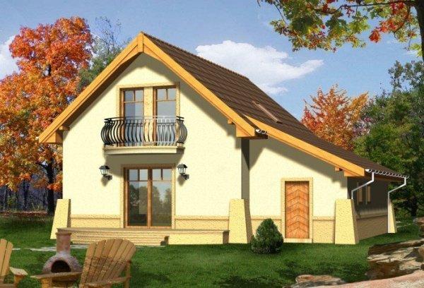 Projekt domu SALSA z garażem 1-stanowiskowym