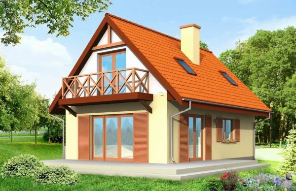 Projekt domu Smyk pow.netto 78,55 m2