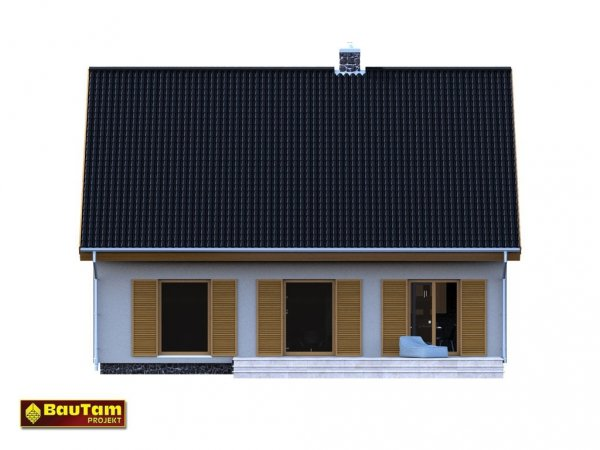 Projekt domu pasywnego LIGHT - Dom Aleksandra (wersja podstawowa)