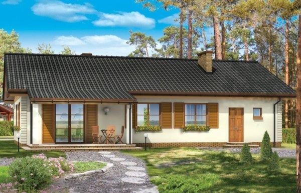 Projekt domu Bursztyn pow.netto 105,16 m2