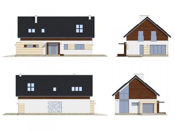 Projekt domu Nowoczesny pow.netto 214,43 m2