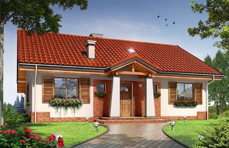 Projekt domu Niezapominajka pow.netto 98,54 m2