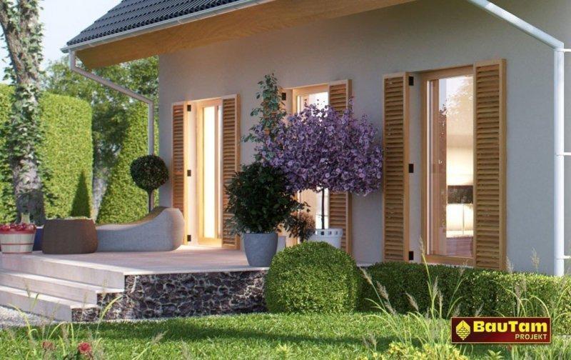 Projekt domu pasywnego murowany - Dom Aleksandra (wersja podstawowa)