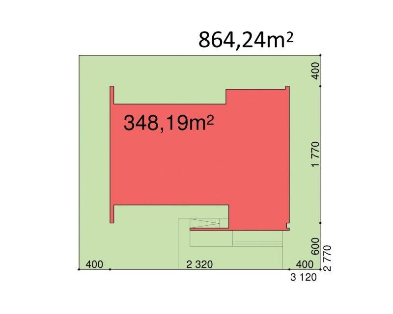 Projekt biurowca PS-BR-310-40 o pow. 1114,68 m2