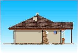 Projekt domu D0V z garażem pow.netto 136,58 m2