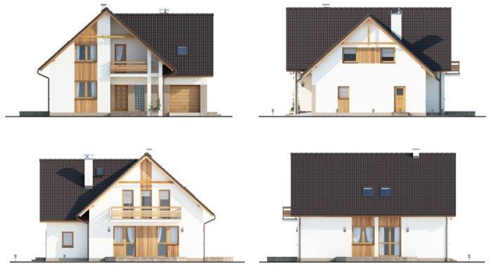 Projekt domu BS-10 dwulokalowy pow. 153 m2