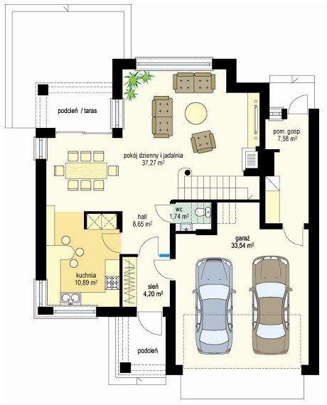 Projekt domu Szmaragd pow.netto 141,45 m2