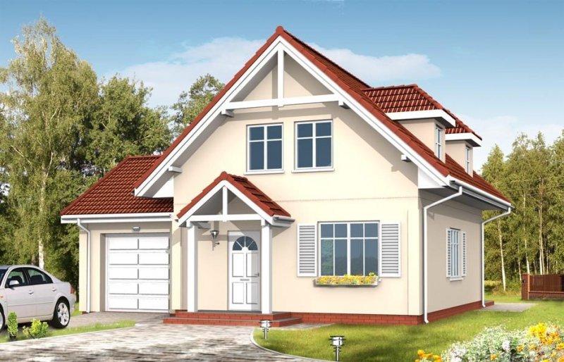 Projekt domu Pierwszy dom III pow.netto 115,14 m2