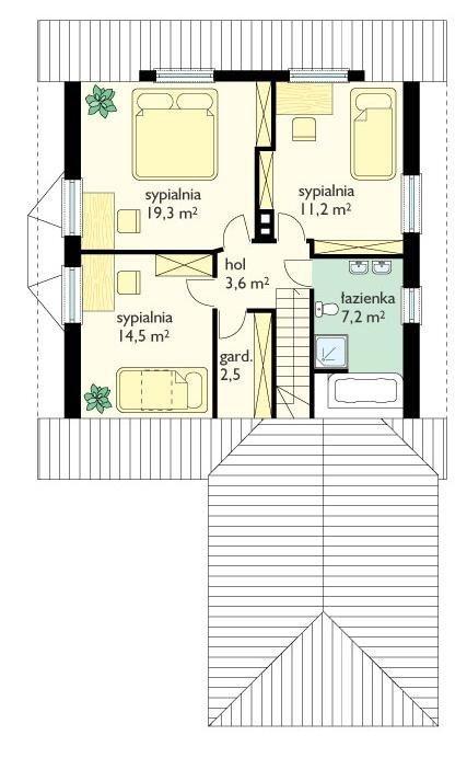 Projekt domu Solidny pow.netto 136,2 m2