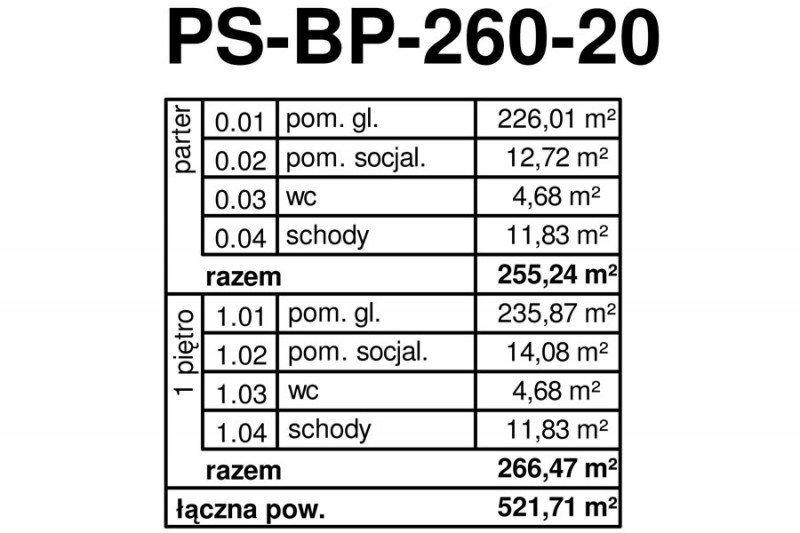 Projekt biurowca PS-PB-260-20