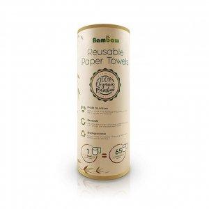 BAMBAW Naturalne wielorazowe ręczniki papierowe z bambusa Biodegradowalne 20 szt