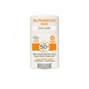 ALPHANOVA SUN Krem z filtrem w sztyfcie SPF 50+ WHITE SHARK 12g