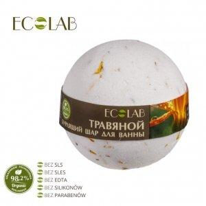 Kula musująca do kąpieli - naturalna - ZIOŁOWA - soda oczyszczona, organiczny olej ze słodkich migdałów, ekstrakt z kwiatów nagi