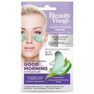 Płatki hydrożelowe do skóry wokół oczu Hialuronowe Ochładzające Beauty Visage 7g - Fitokosmetik