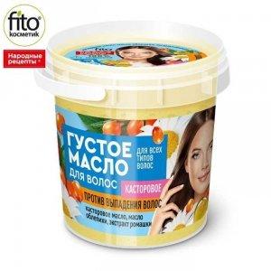 Gęsty olejek przeciw wypadaniu włosów na bazie oleju rycynowego,155 ml - Fitokosmetik