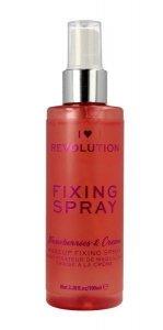 Makeup Revolution Mgiełka utrwalająca Fixing Spray Strawberries & Cream, 100 ml