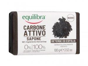 Equilibra Carbone Attivo Mydło oczyszczające 100% roślinne z aktywnym węglem  100g