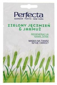 Perfecta Maska na twarz,szyję i dekolt Zielony Jęczmień & Jarmuż  10ml