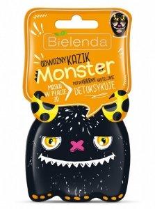 Bielenda Monster Maska w płacie 3D detoksykująca Odważny Kazik  1szt