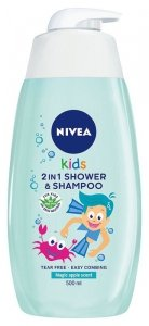 Nivea Kids Żel do mycia ciała 2w1 dla chłopców Magic Apple  500ml