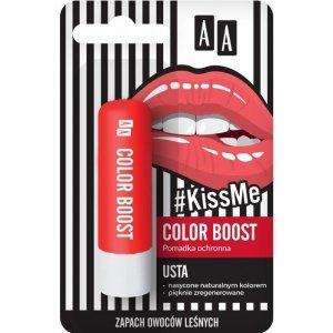 AA #Kiss Me Pomadka ochronna Color Boost  3.8g